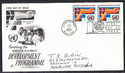 "United Nations ""Artcraft"" 1967 - Development Programme  FDC addressed"