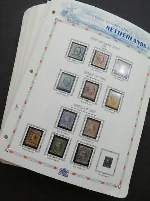 EDW1949SELL : NETHERLANDS Beautiful, mostly Complete collection of Mint & Used