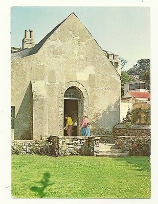 Herm - a larger format, photographic postcard of St. Tugual Chapel