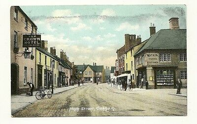 Oakham - a colour printed postcard of High Street
