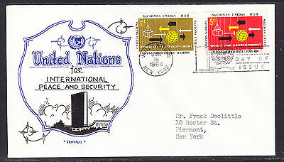 "United Nations 1964 Trade & Development ""Artopages"" First Day Cover addressed"