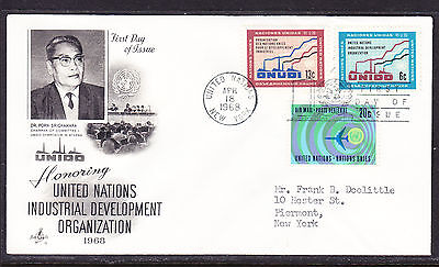 "United Nations ""Artcraft"" 1968 - Industrial Development   FDC addressed"