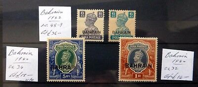 BAHRAIN 1940 G.VI - 4 Values Some Toning Cat £61 As Described NB3833