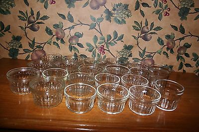Vintage  Jelly Glass Jars-1/2 Pint Various Styles-Lot Of 22