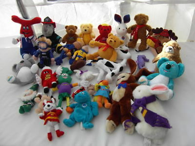 Great Lot 29 Plush Dolls Advertising Promotional Bear A