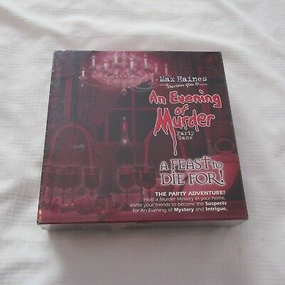 An Evening Of Murder Party Time Game A Feast To Die For! Max Haines New Sealed