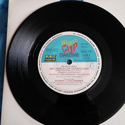 "ANDREW LLOYD WEBBER - World Cup Grandstand (Jellicle Ball) - 7"" single"