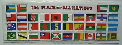 174 Flags of all Nations sheet of stickers