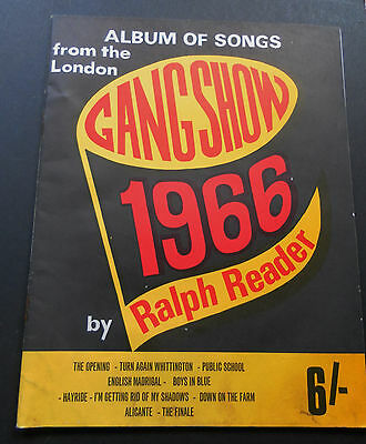 Vintage Album of Songs from the London Gang Show by Ralph Reader-1966-Very Good