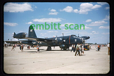 Original Slide, Navy VP-18 Lockheed P2V-5 Neptune at Dayton OH, 1954