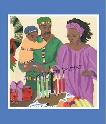 SET of SIX - AFRICAN AMERICAN KWANZAA CARDS - Design #KWZA 001