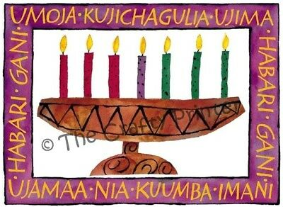 SET of SIX - AFRICAN AMERICAN KWANZAA CARDS - Design #KWZA 005