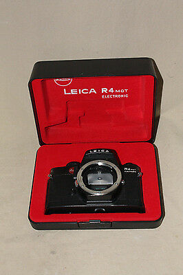 LEICA R4 MOT ELECTRONIC 35mm CAMERA WITH NECK STRAP & INSTRUCTIONS 7065