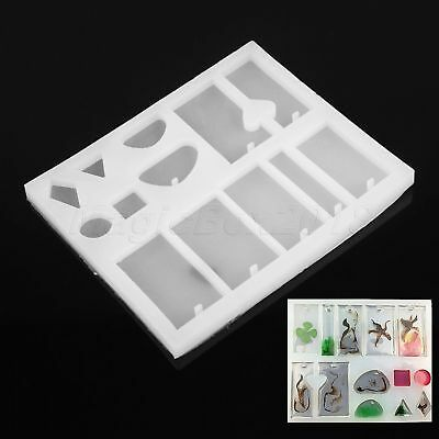 Geometry Mold Making Jewelry Pendant Resin Casting Mould Silicone DIY Craft Tool