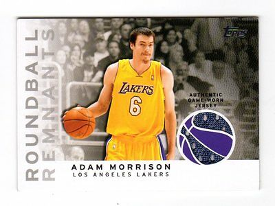 Adam Morrison Nba 2009-10 Topps Roundball Remnants (Jersey) Lakers,bobcats