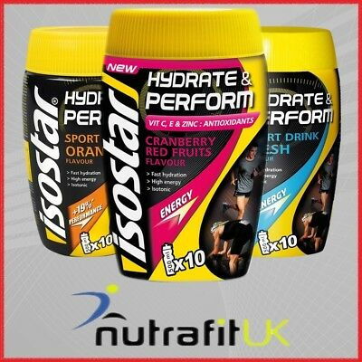 Isostar Hydrate & Perform 400G Powder Isotonic Sport Energy Drink Free Bottle
