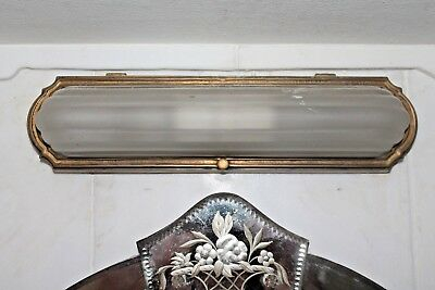 American Art Deco Gilt Bronze/ Frosted Thick Art Glass Sconce/ 1920- Authentic