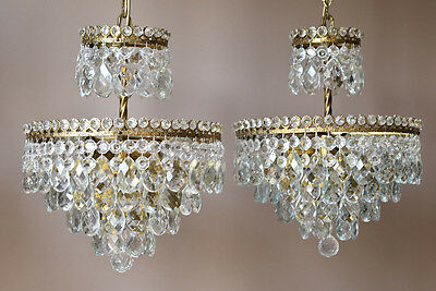 Matching Chandeliers Antique French Vintage Crystal Chandelier Pair Lights lamp
