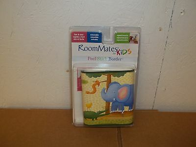 NIP Room Mates Peel & Stick Border-Jungle Animals-Removable-Repositionable