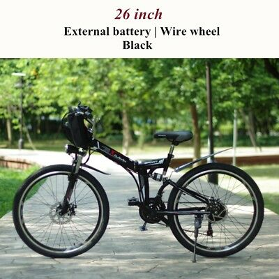 Folding electric bike 48V GPS Shimano E-Mountain Black Internal/External Battery