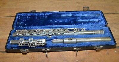 Selmer USA flute with original case collectible vintage musical instrument