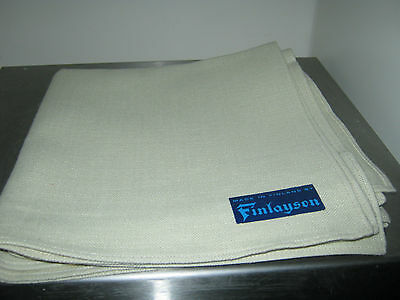 "Linen Cotton Beige Table Napkins 17.5"" X 17.5"" Finlayson"