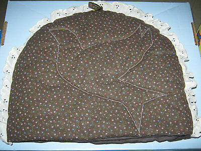 Quilted Brown Floral Kitchen Tea Cozy Dove
