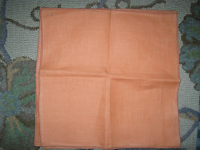 "Linen Cotton Dinner Napkins 15"" X 15"" Set Of 4 Orange"
