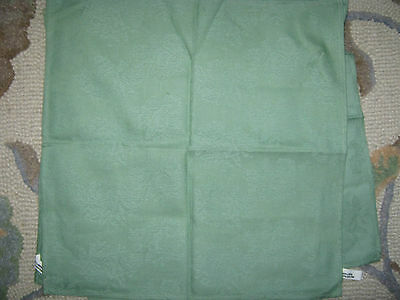 "Linen Cotton Green Table Napkins 17.5"" X 17.5"" Finlayson Set of 5"