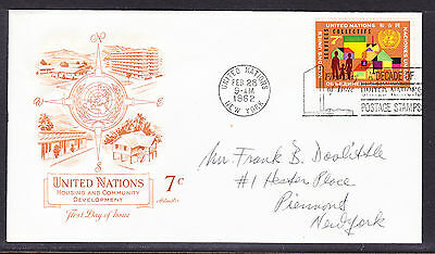"United Nations ""Artmaster"" 1962  - Housing   FDC Unaddressed"