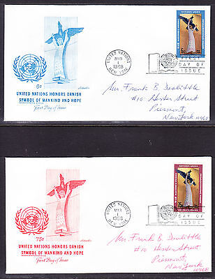 "United Nations ""Artmaster"" 1968 - Henrik Starcke Statue TWO  FDC  addressed"