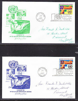 "United Nations ""Artmaster"" 1967 - Development Program TWO FDC  addressed"