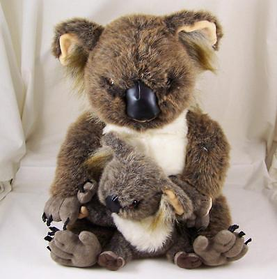 "Discovery Channel Koalas Plush 14"" Lifelike Mamas and Babies 1999 Commonwealth"
