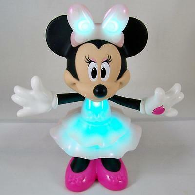"""Rainbow Dazzle Minnie Mouse 10"""" Talking Light Color Change Doll Toy Figure FP"""