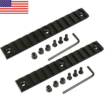 2 PCS Aluminum Keymod 13 Slot 5.3 inch Picatinny Weaver Rail Handguard Section