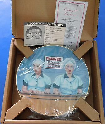 Official I LOVE LUCY Fast Conveyor Belt Lucy & Ethel EATING THE EVIDENCE Plate