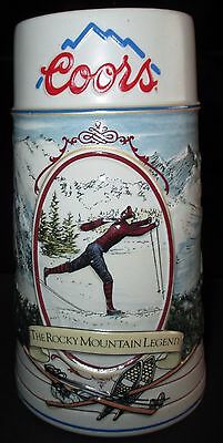 "Coors Stein  ""The Rocky Mountain Legend"" 1991"