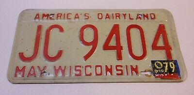 Wisconsin 1973 License Plate