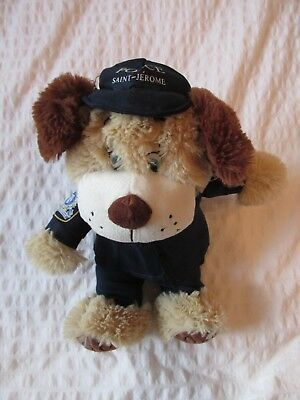 """ST-JEROME QUEBEC CANADA Police puppy PLUSH 14"""" DOLL Toy.***"""