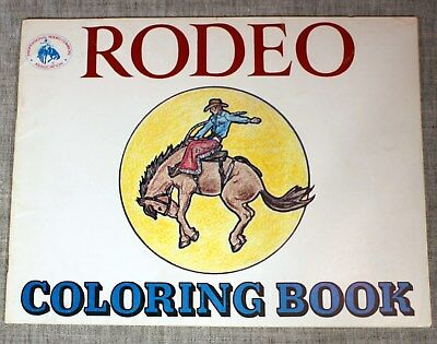 3 RODEO COLORING BOOKS/PRCA by GENE & MARION VINSON 1975 As Is Free Ship