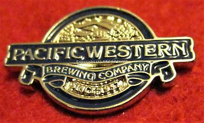 BEER PACIFIC WESTERN BREWING COMPANY PRINCE GEORGE B.C. Lapel Pin Mint