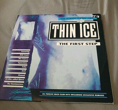 Various - Thin Ice Vol 1 First Step, 1991 Classic Dance LP, 26 Tracks