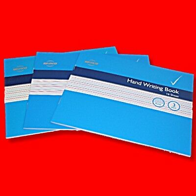3 X Wilko A5 Handwriting Practice Exercise Books School Writing Aid Guide Lined