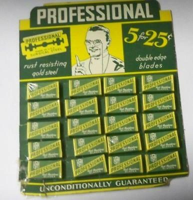 Store Display 5 professional SURGICAL STEEL doubLe edge safety Razor Blades
