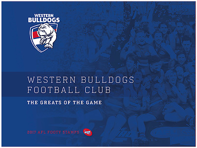 AFL 2017 Western Bulldogs Football Club footy stamps