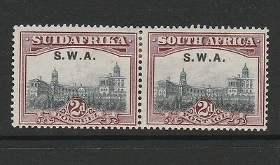 South West Africa 1927/30 2d MM correct pair SG 60