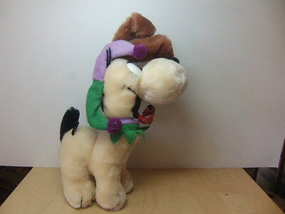 """Odie wearing Jester / Party Hat – 11"""" soft toy 1980s"""