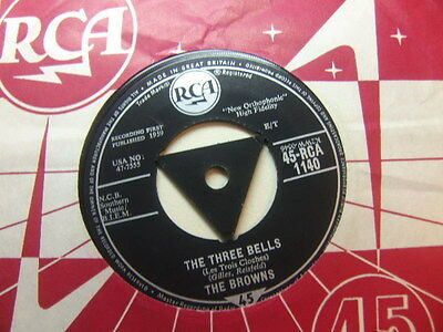 """The Browns – The Three Bells 1959 7"""" RCA 1040"""