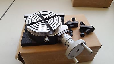 """4"""" Horizontal & Vertical Rotary Table With Clamps  (HV-4"""")"""