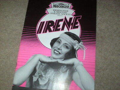 Birmingham Hippodrome Theatre Programme 'Irene' from 1991 with flyer